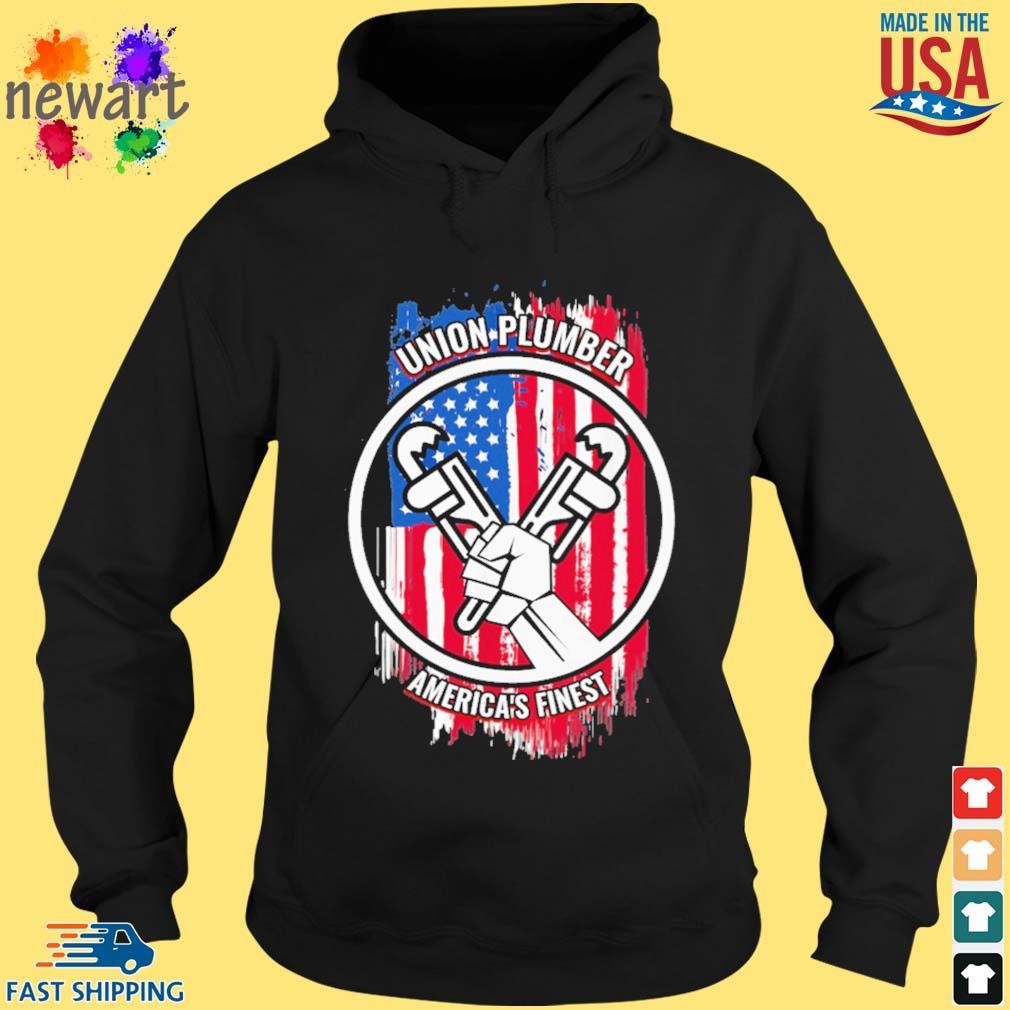 Union plumber America's finest American flag hoodie den