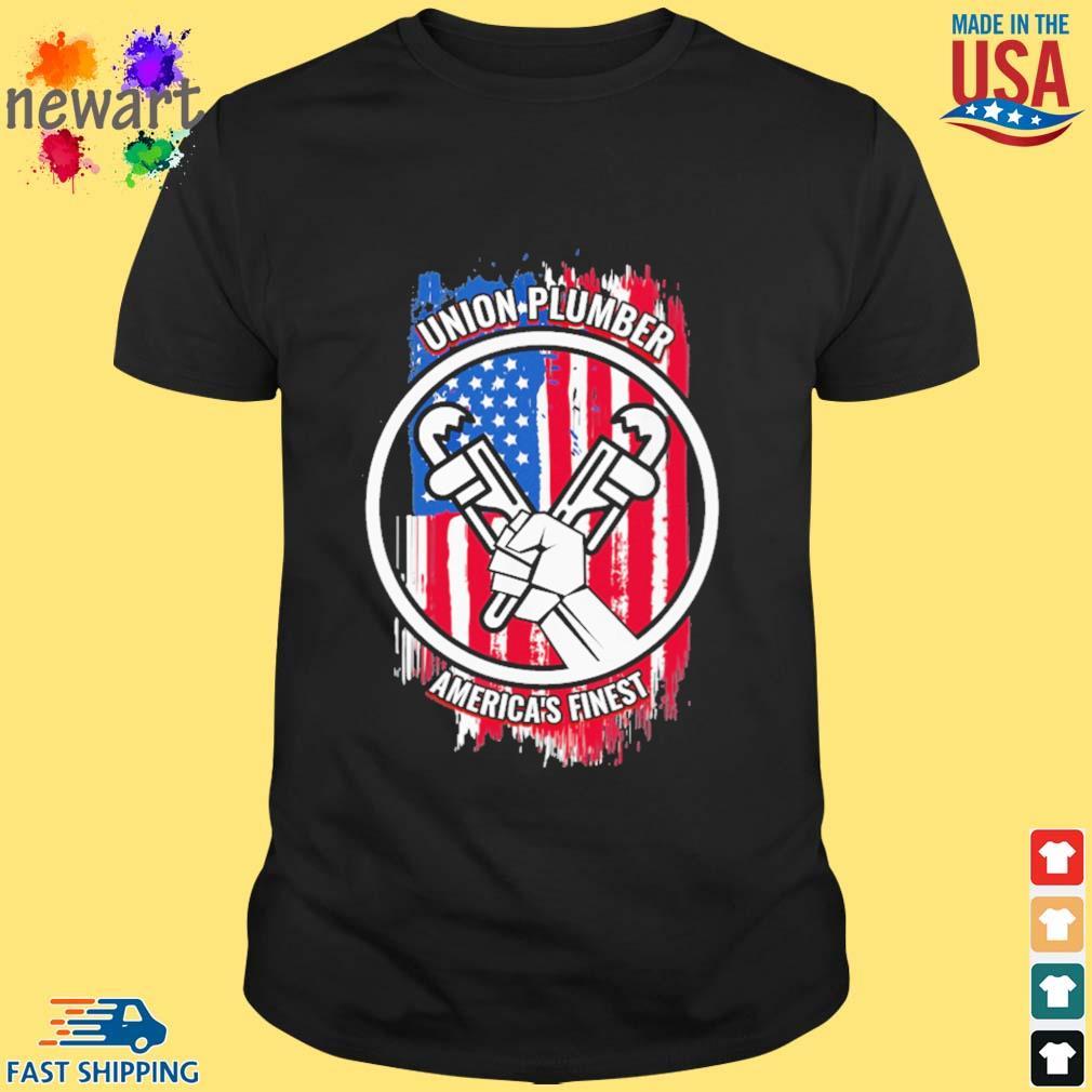 Union plumber America's finest American flag shirt