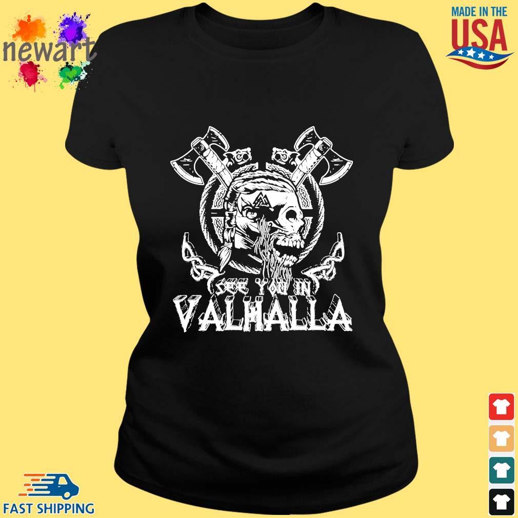 Viking Skull see you in Valhalla ladies den