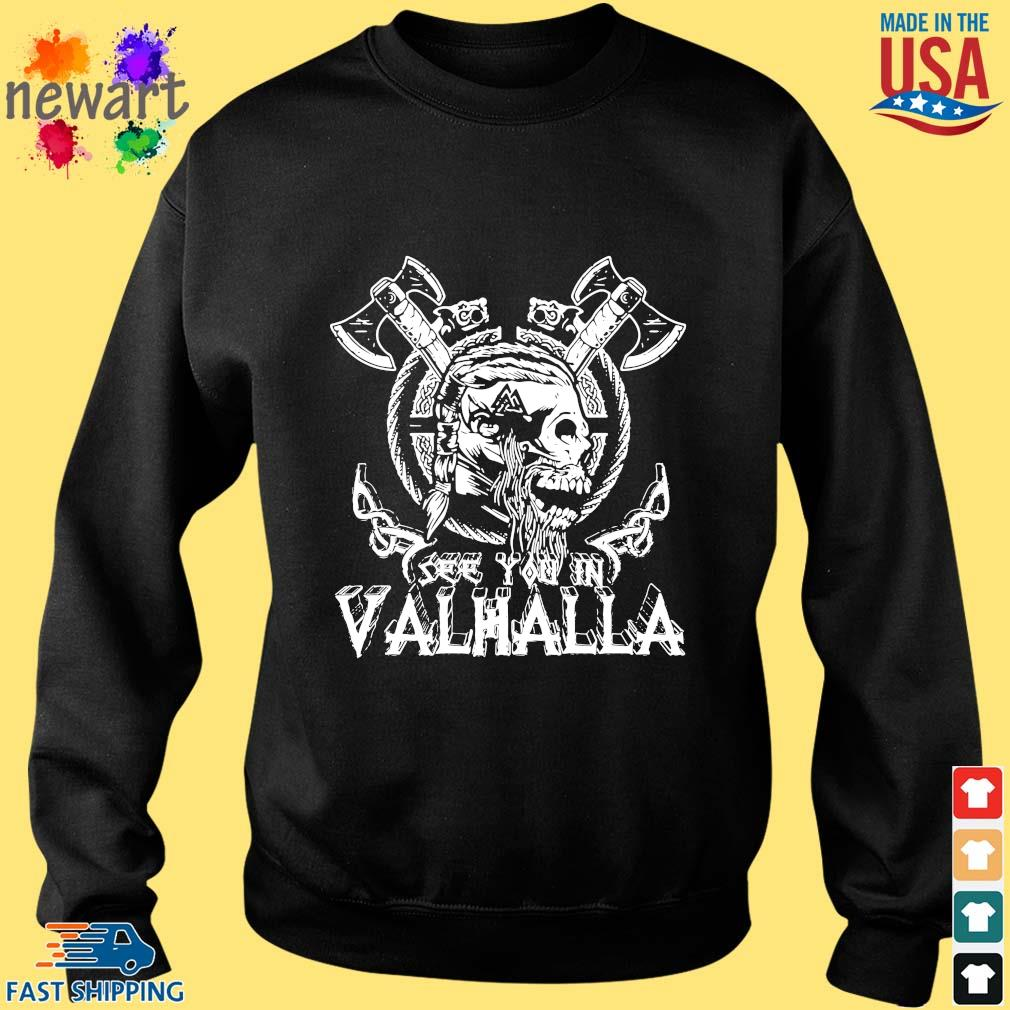 Viking Skull see you in Valhalla Sweater den