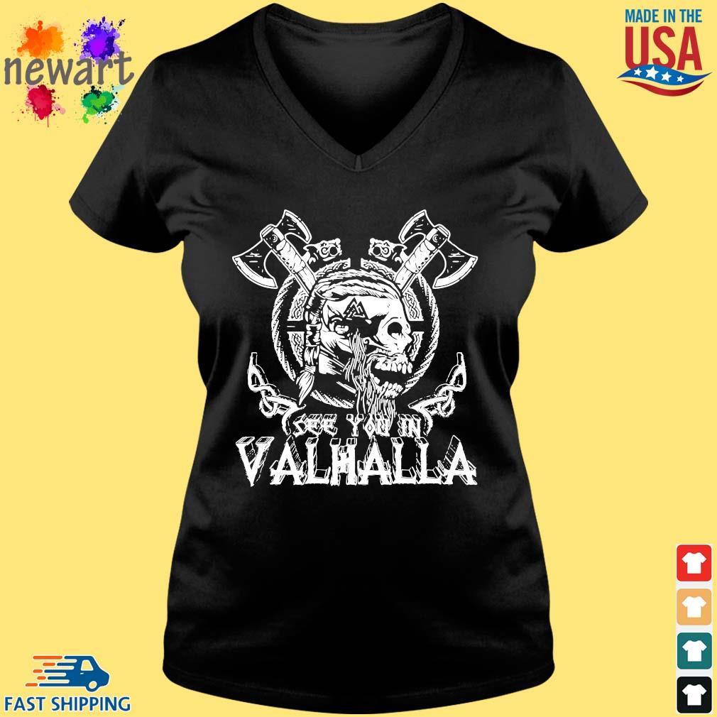 Viking Skull see you in Valhalla Vneck den
