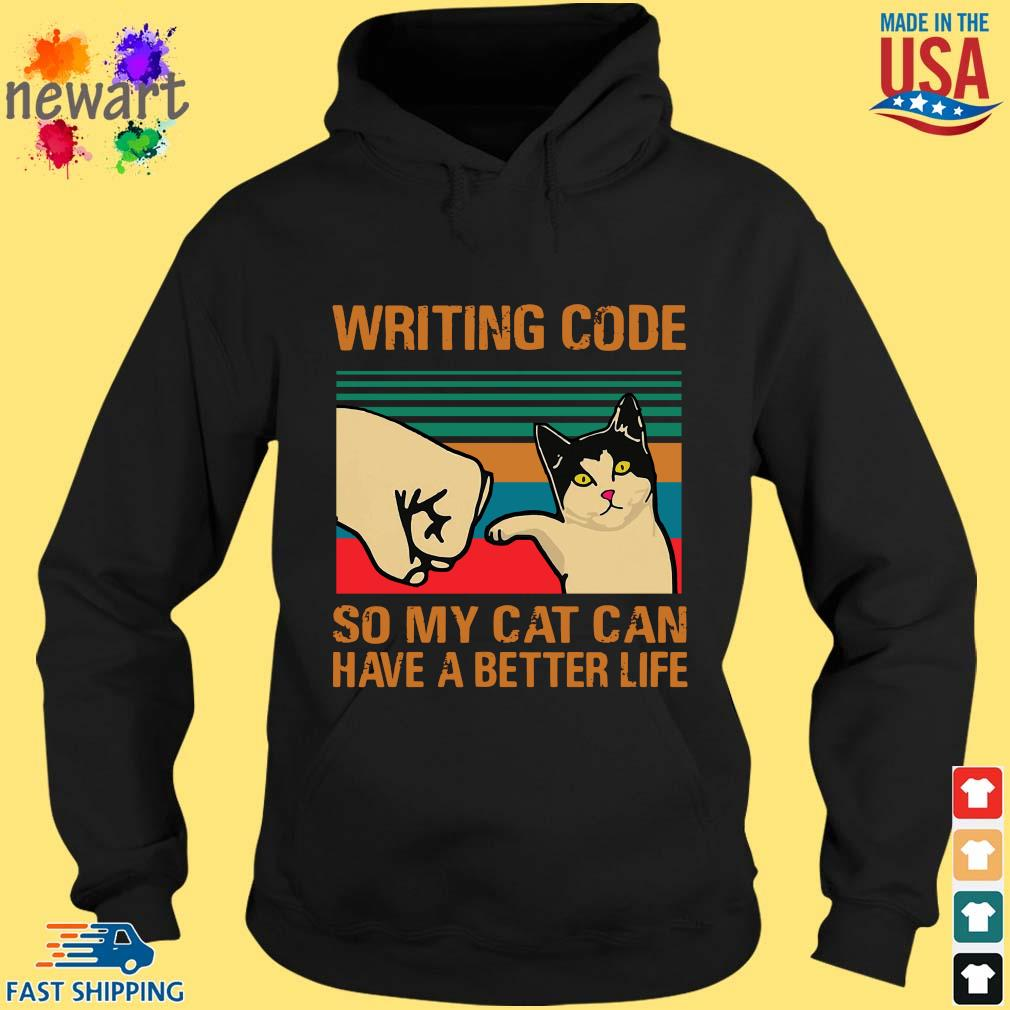 Writing code so my cat can have a better life vintage hoodie den