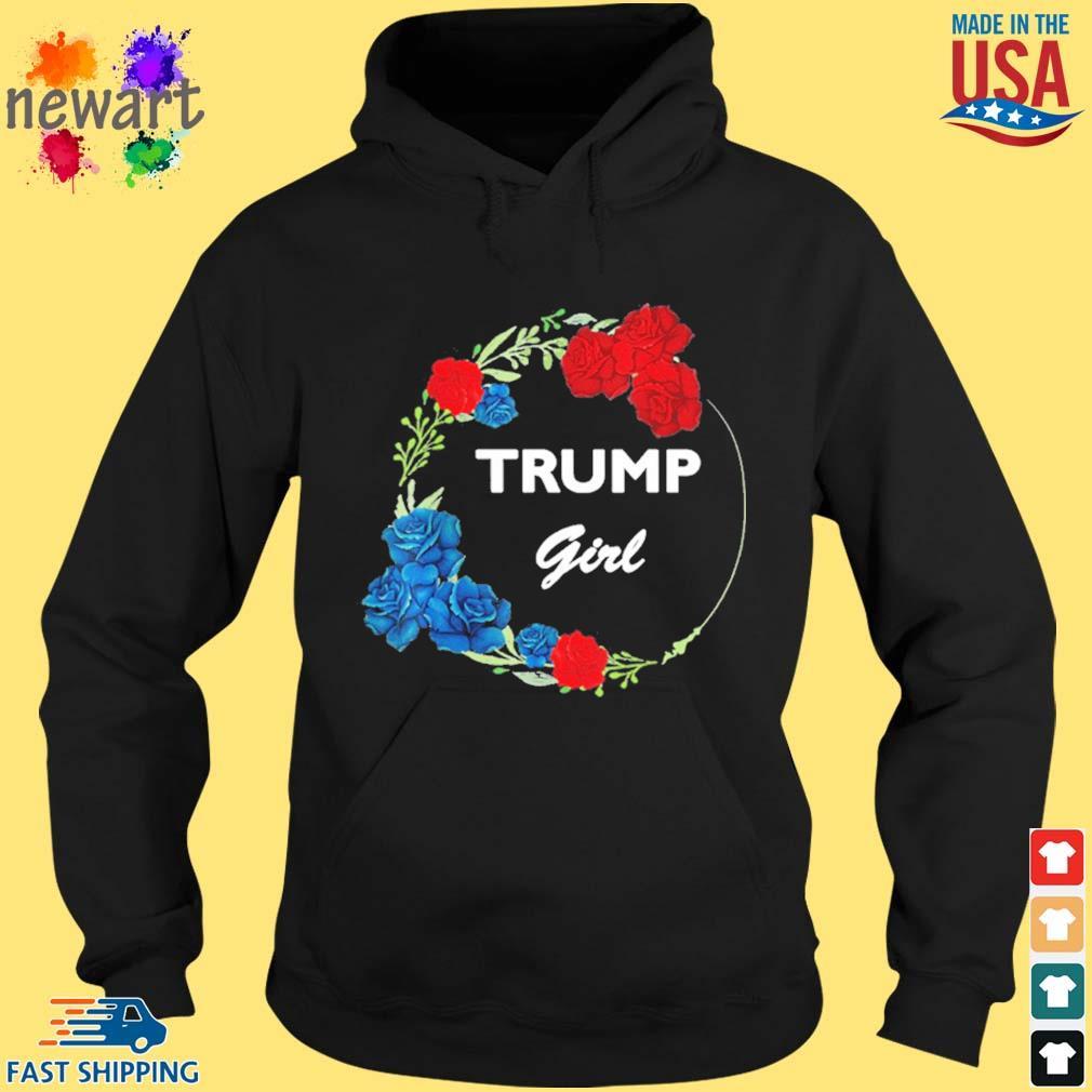 2021 Donald Trump Girl Flower Wreath Shirt hoodie den
