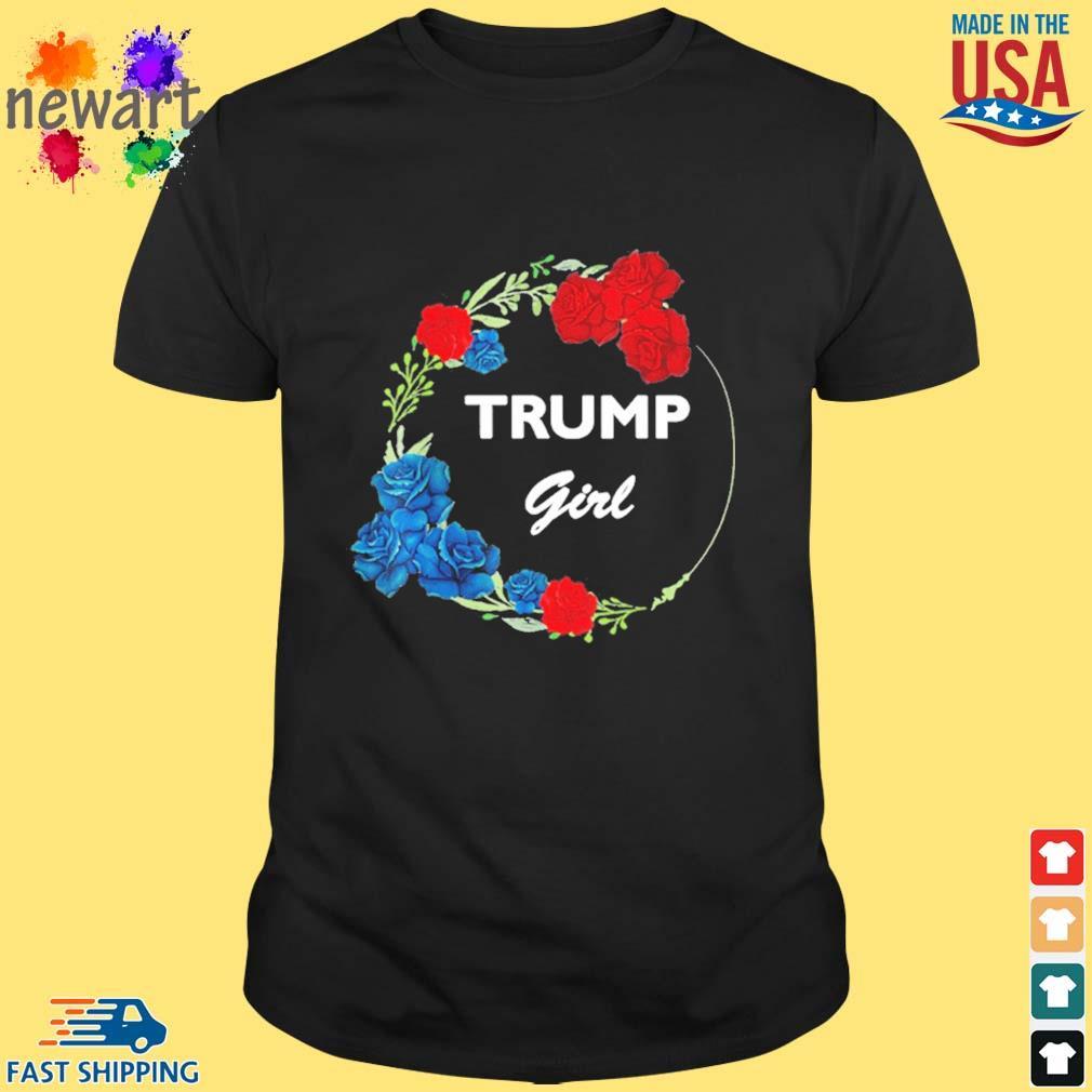 2021 Donald Trump Girl Flower Wreath Shirt