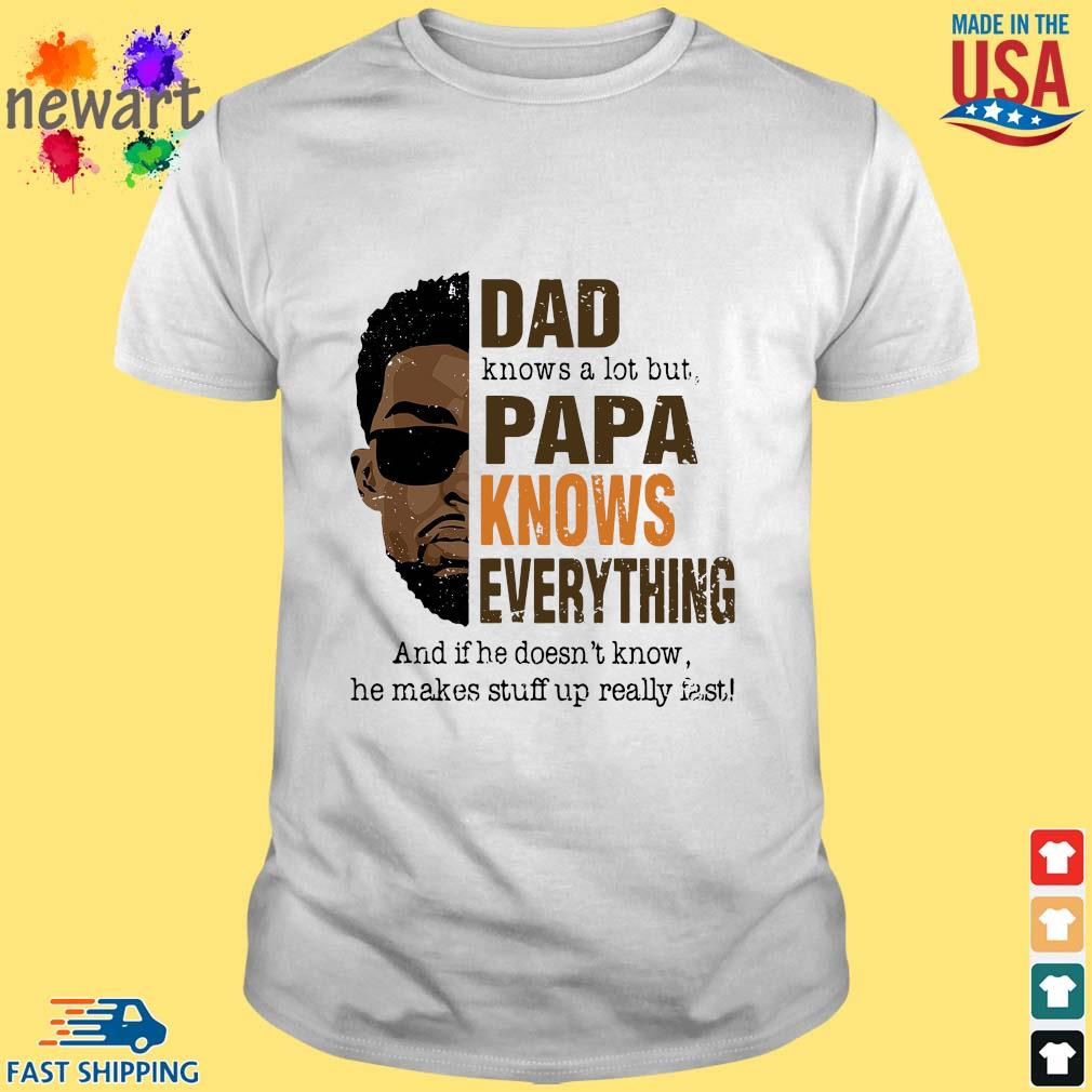 Dad Knows A Lot But Papa Knows Everything – Happy Fathers Day 2021 Shirt