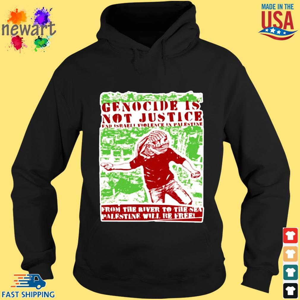 Genocide is not justice from the Palestine hoodie den