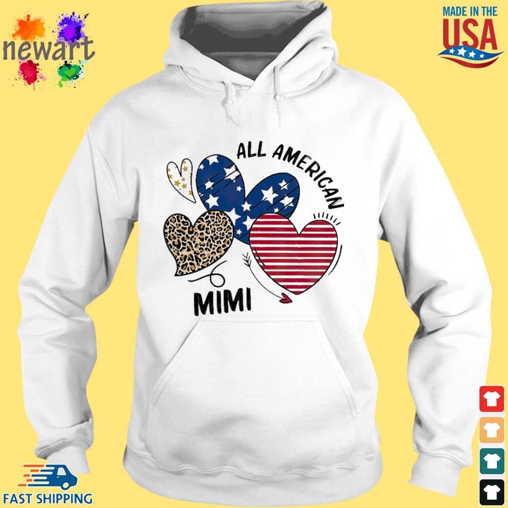 Heart All American Mimi Shirt hoodie trang