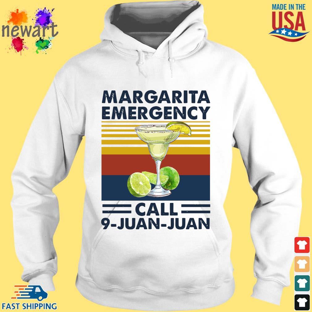 Margarita emergency call 9 juan juan vintage hoodie trang