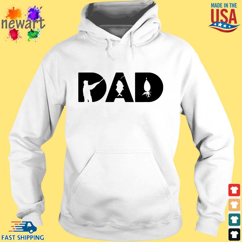 New Dad Fishing Shirt hoodie trang