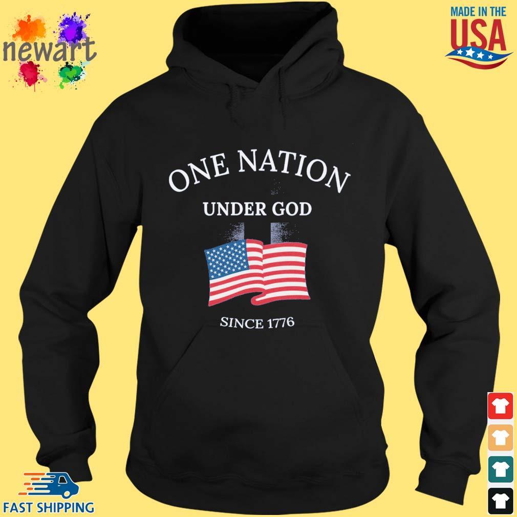 One nation under god since 1776 American flag hoodie den