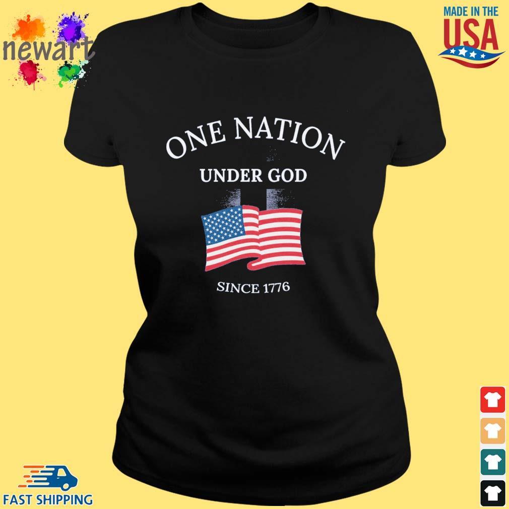 One nation under god since 1776 American flag ladies den