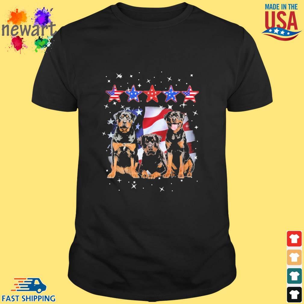 Rottweiler Five Star American Flag Shirt