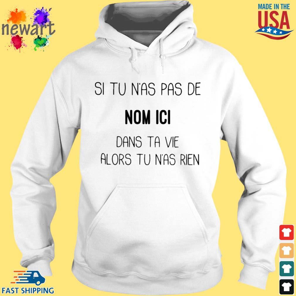 Si tu n'as pas de nom ici dans ta vie alors tu n'as rien hoodie trang