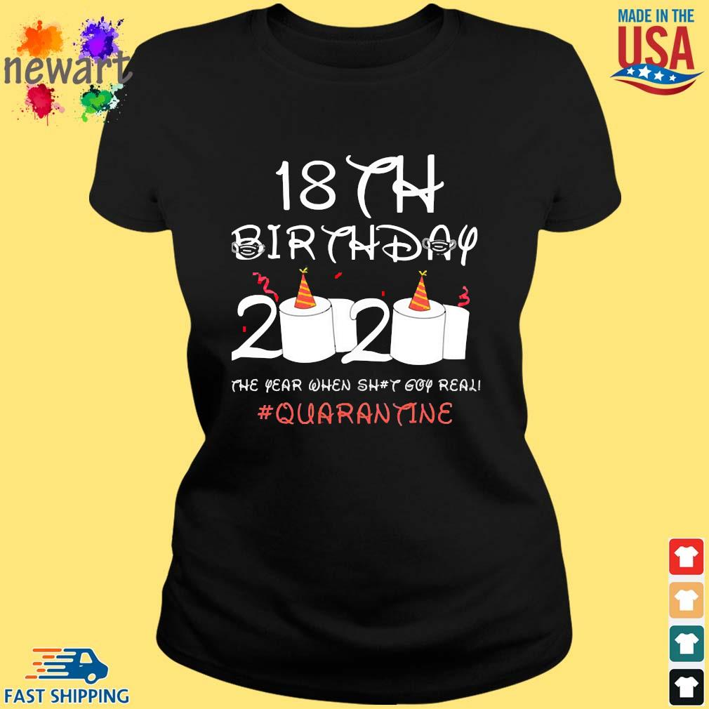 18th Birthday Quarantine Shirt ladies den