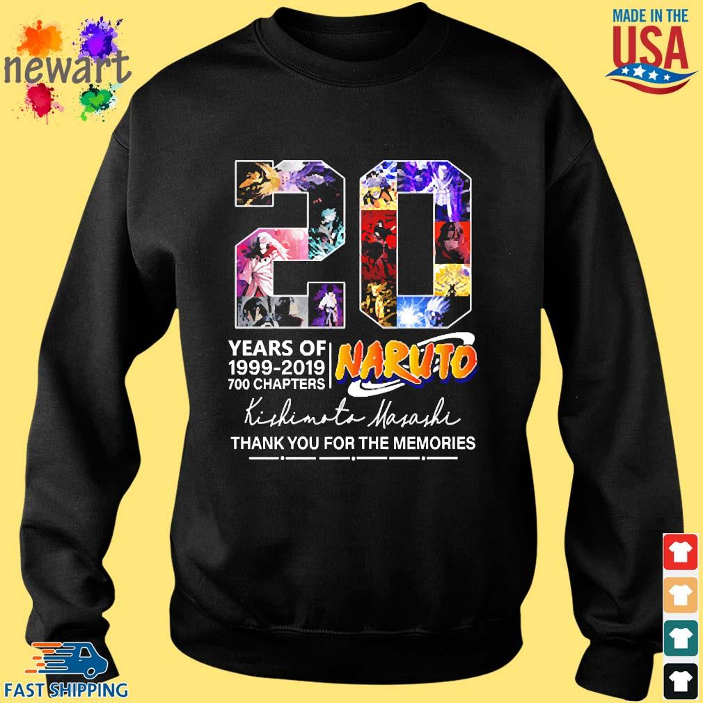 20 years of Naruto 1999-2019 700 chapters thank you for the memo Sweater den