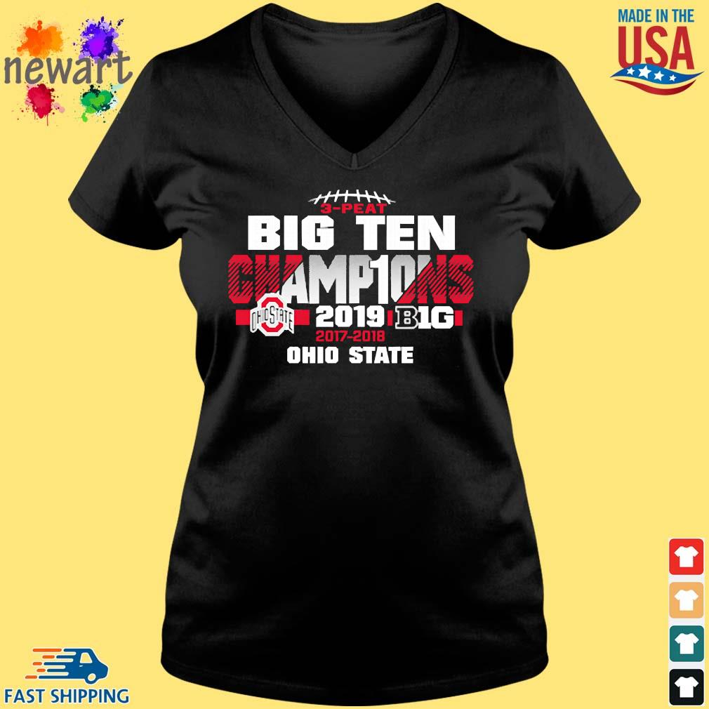 2019 Big Ten Football Champions Ohio State Buckeyes s Vneck den