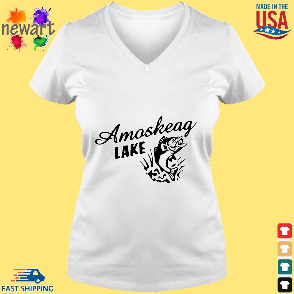 2020 Amoskeag Lake Shirt vneck trang
