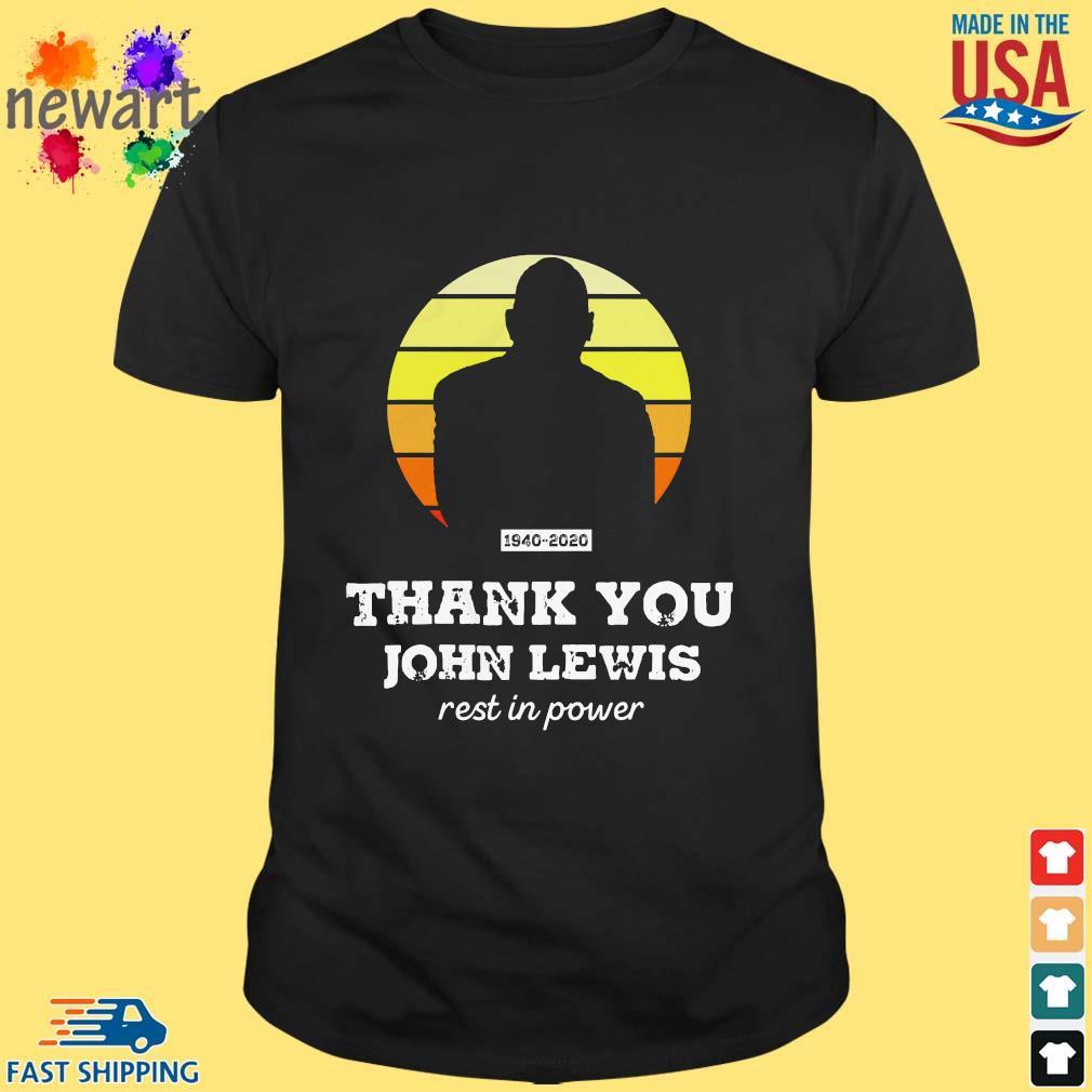 Congressman John Lewis thank you rest in power shirt