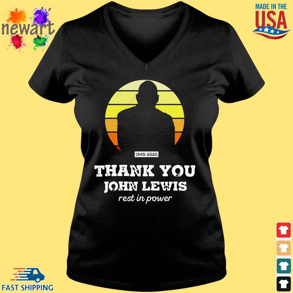 Congressman John Lewis thank you rest in power s Vneck den
