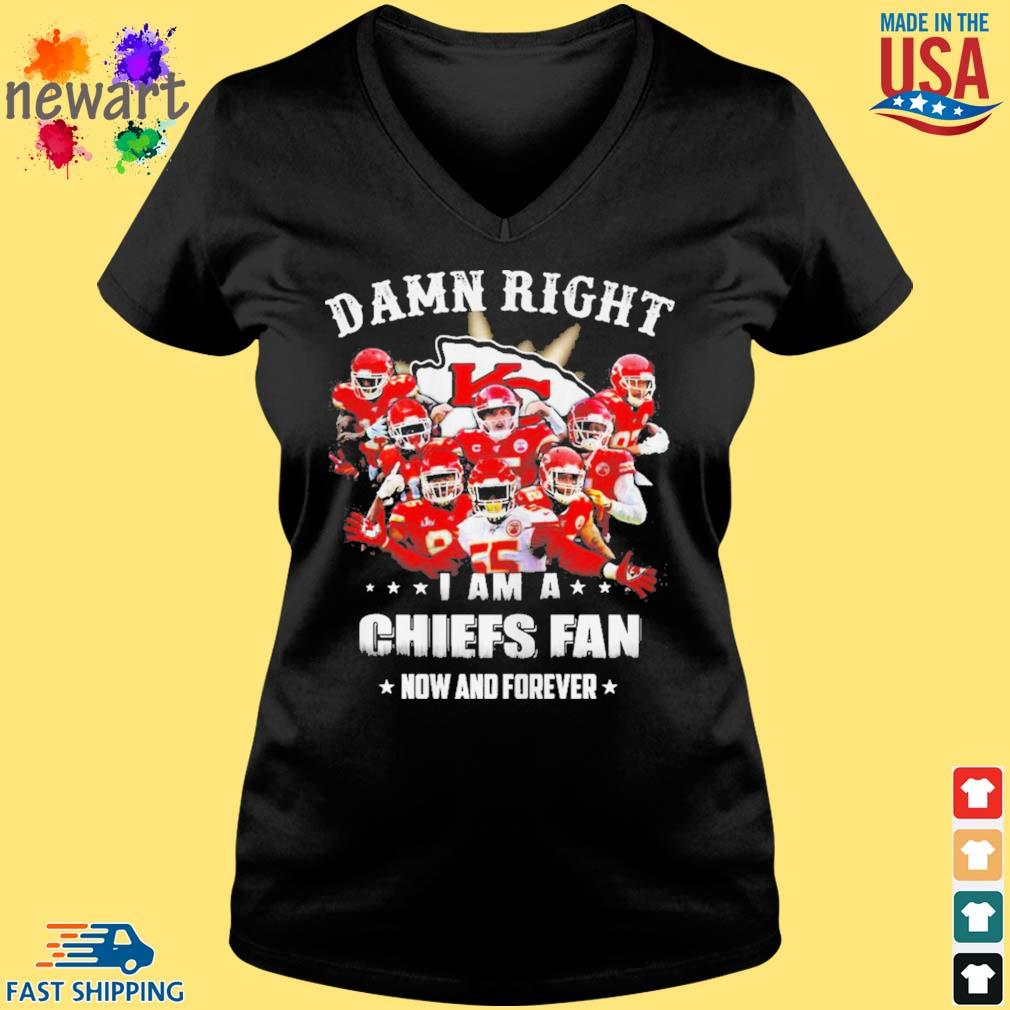 Damn right I am a Kansas Chiefs City fan now and forever s Vneck den