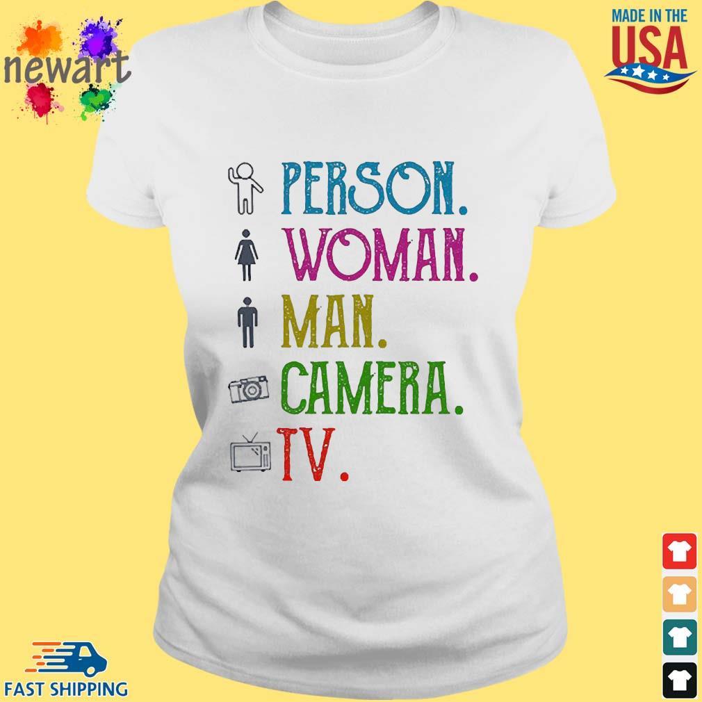 person woman man camera tv test meme tshirtsweater