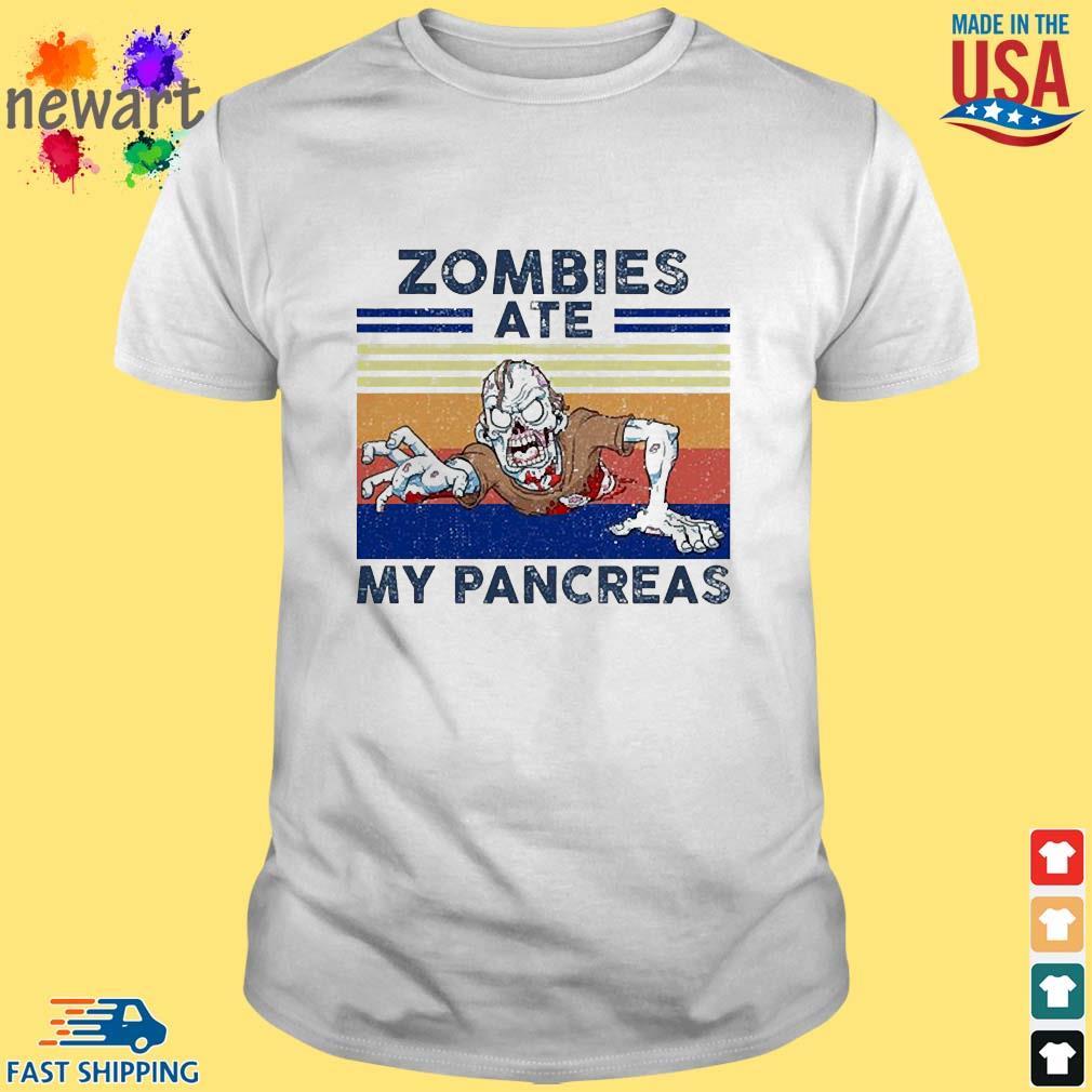 Zombies ate my pancreas vintage shirt