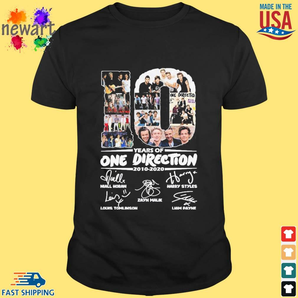 10 Years Of One Direction 2010-2020 Signatures Shirt