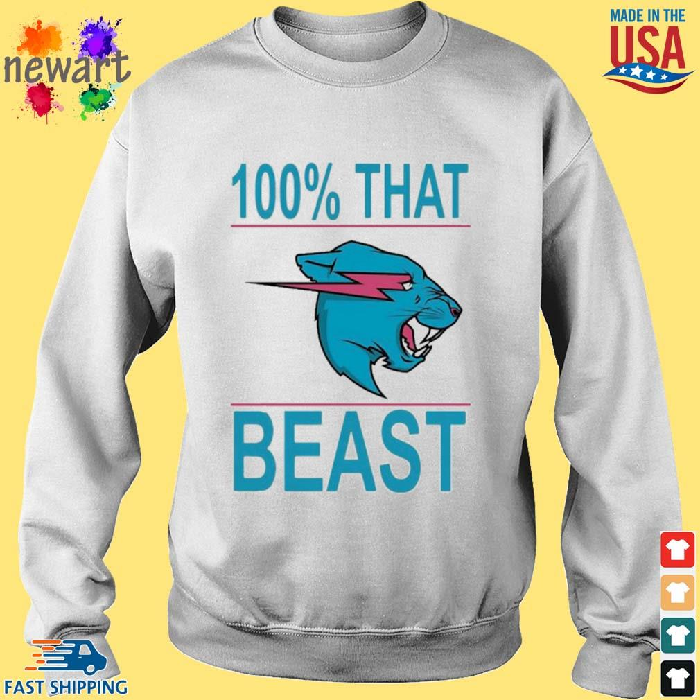 100% That Beast Mr Beast Shirt Sweater trang