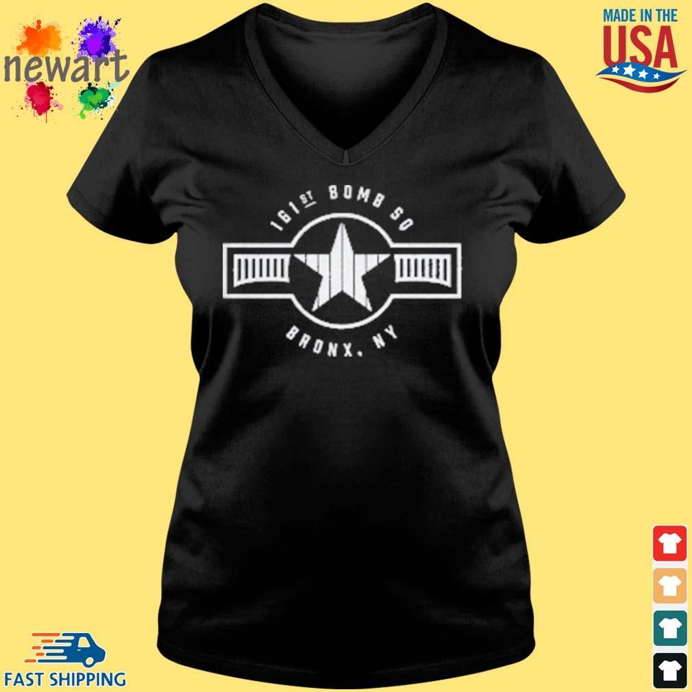161st Bomb Squadron New York Bronx Baseball Shirt Vneck den