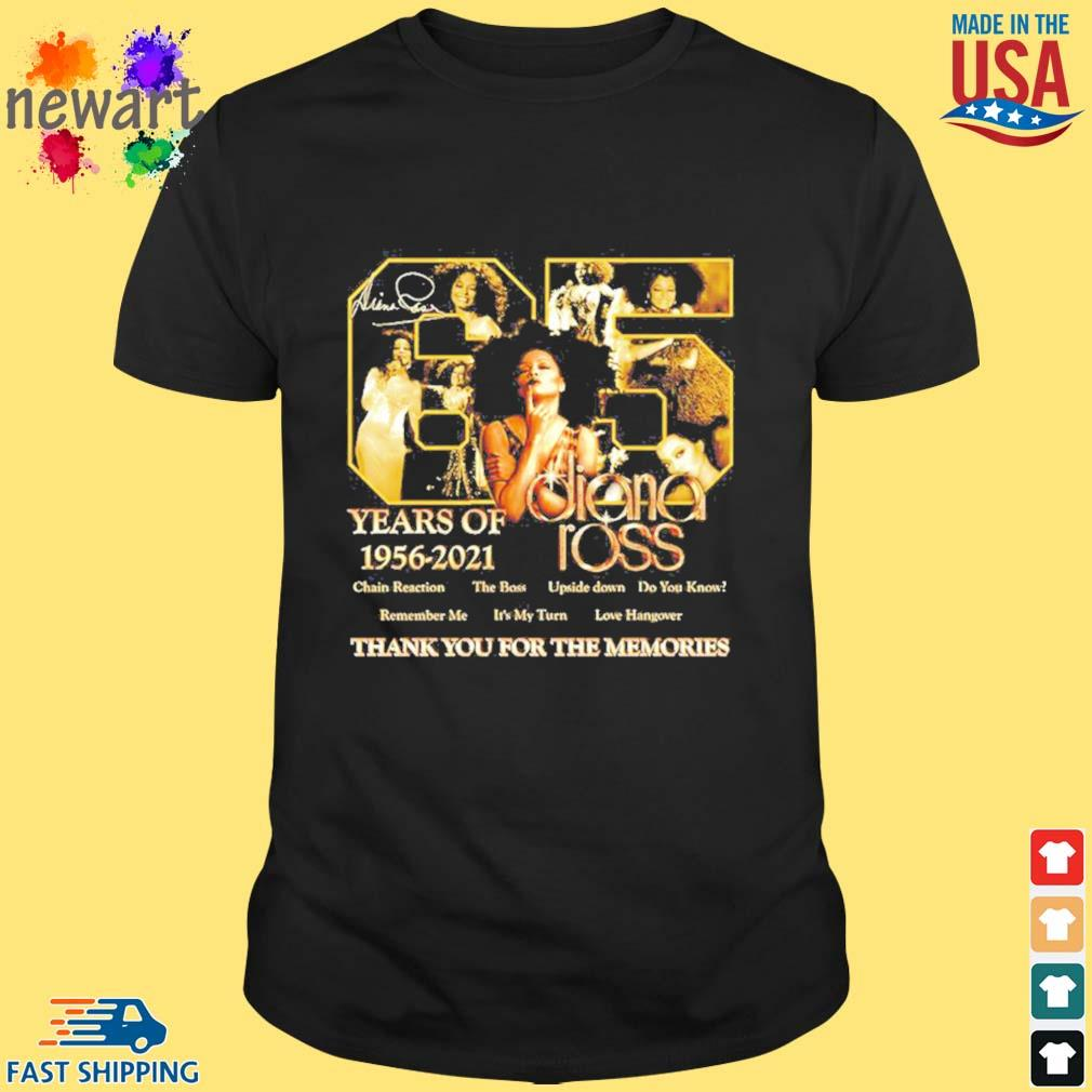 65 years of 1956 2021 Diana Ross thank you for the memories shirt