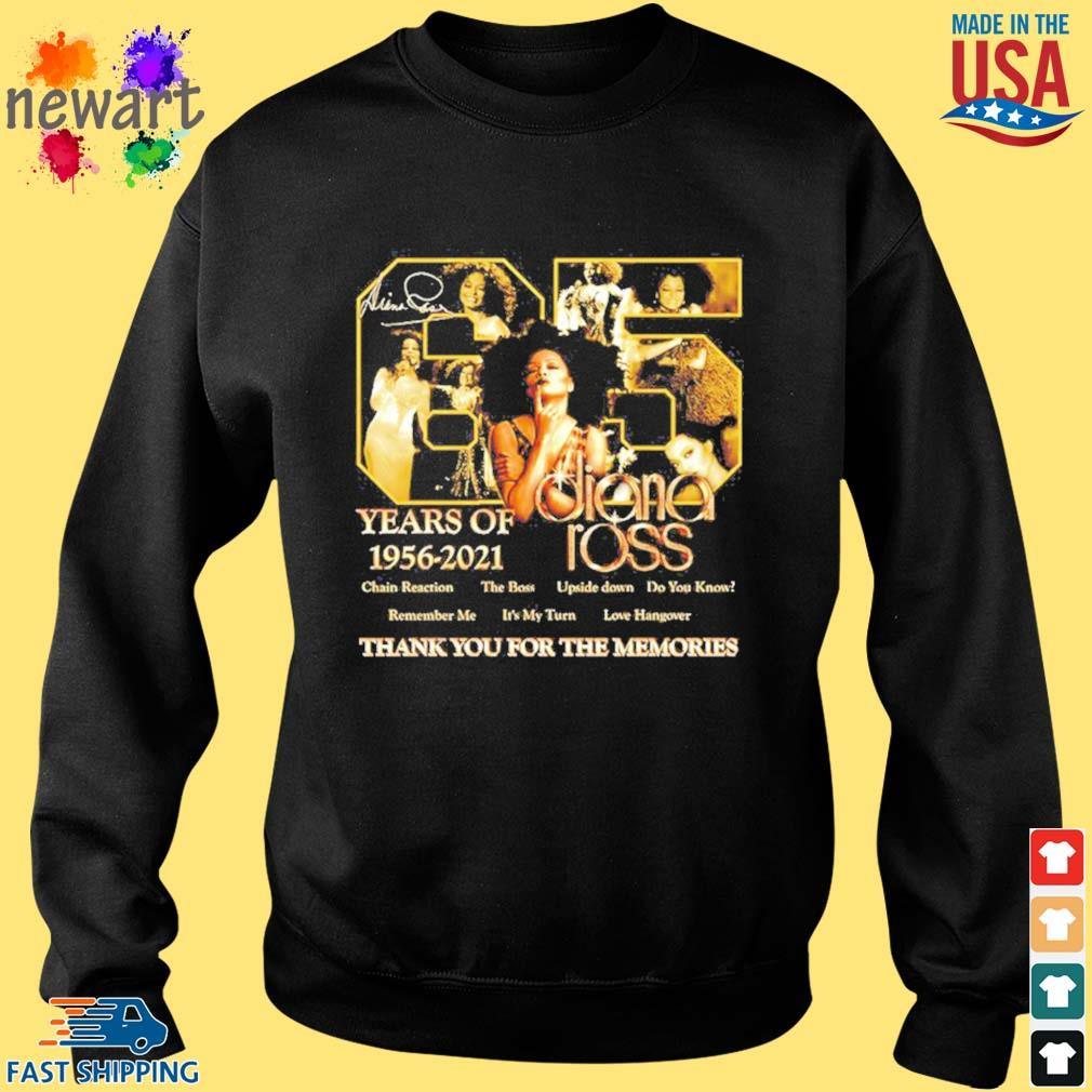65 years of 1956 2021 Diana Ross thank you for the memories s Sweater den