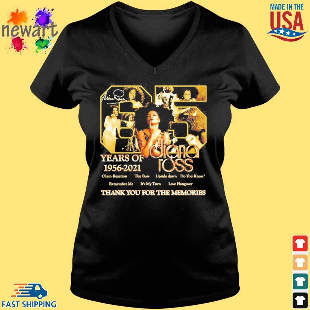 65 years of 1956 2021 Diana Ross thank you for the memories s Vneck den