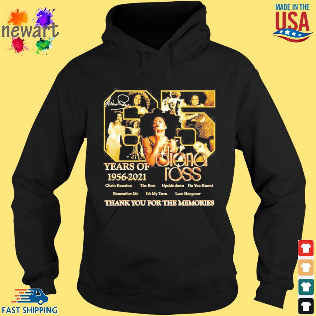 65 years of 1956 2021 Diana Ross thank you for the memories s hoodie den