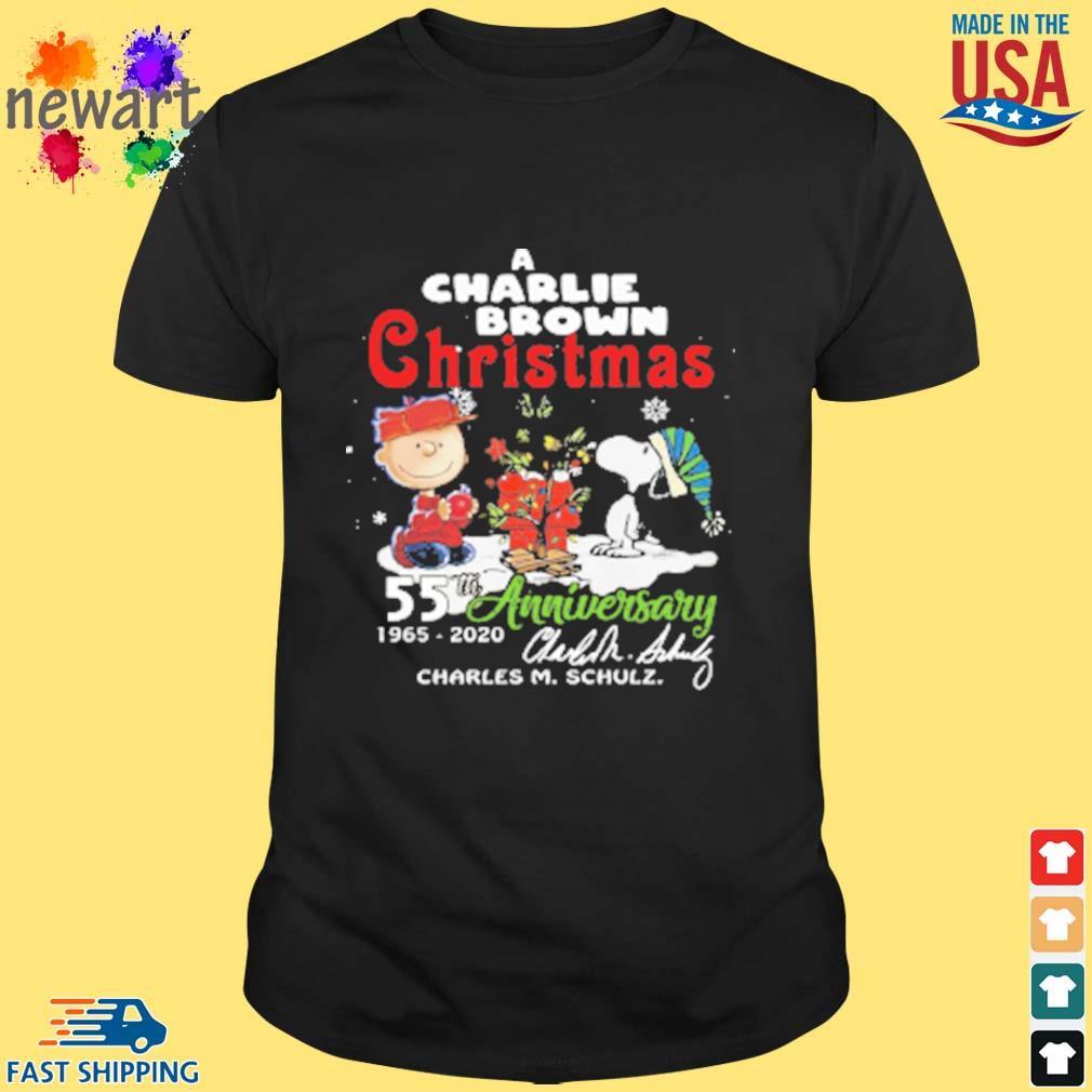 A Charlie Brown Christmas 55th 1965-2020 anniversary signature shirt