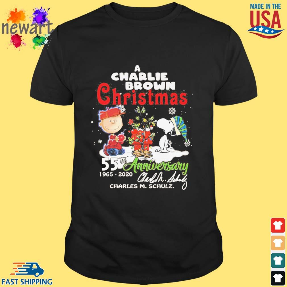A Charlie Brown Christmas 55th anniversary 1965-2020 signature shirt