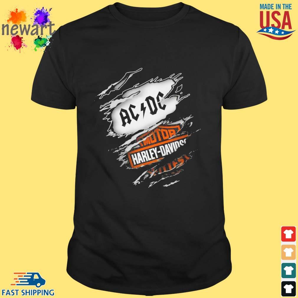 AC DC Motor Harley Davidson shirt
