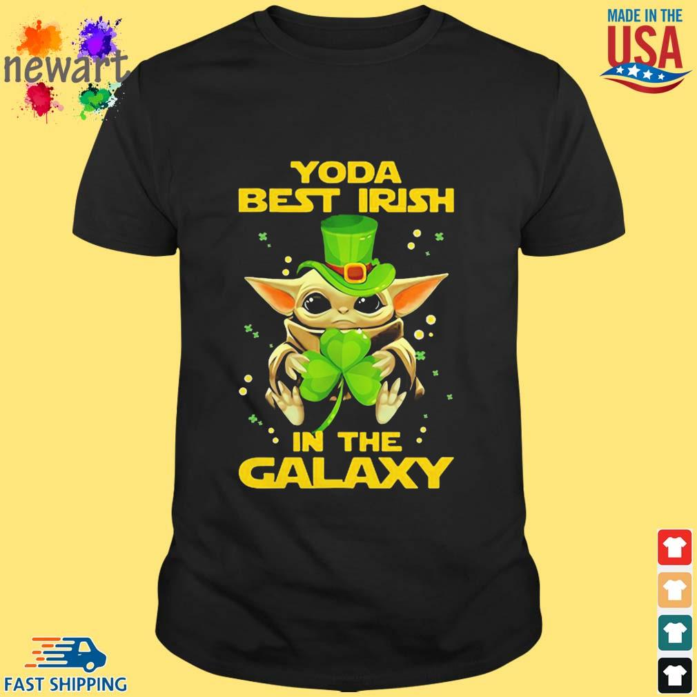 Baby Yoda Best Irish In The Galaxy Star Wars Shirt