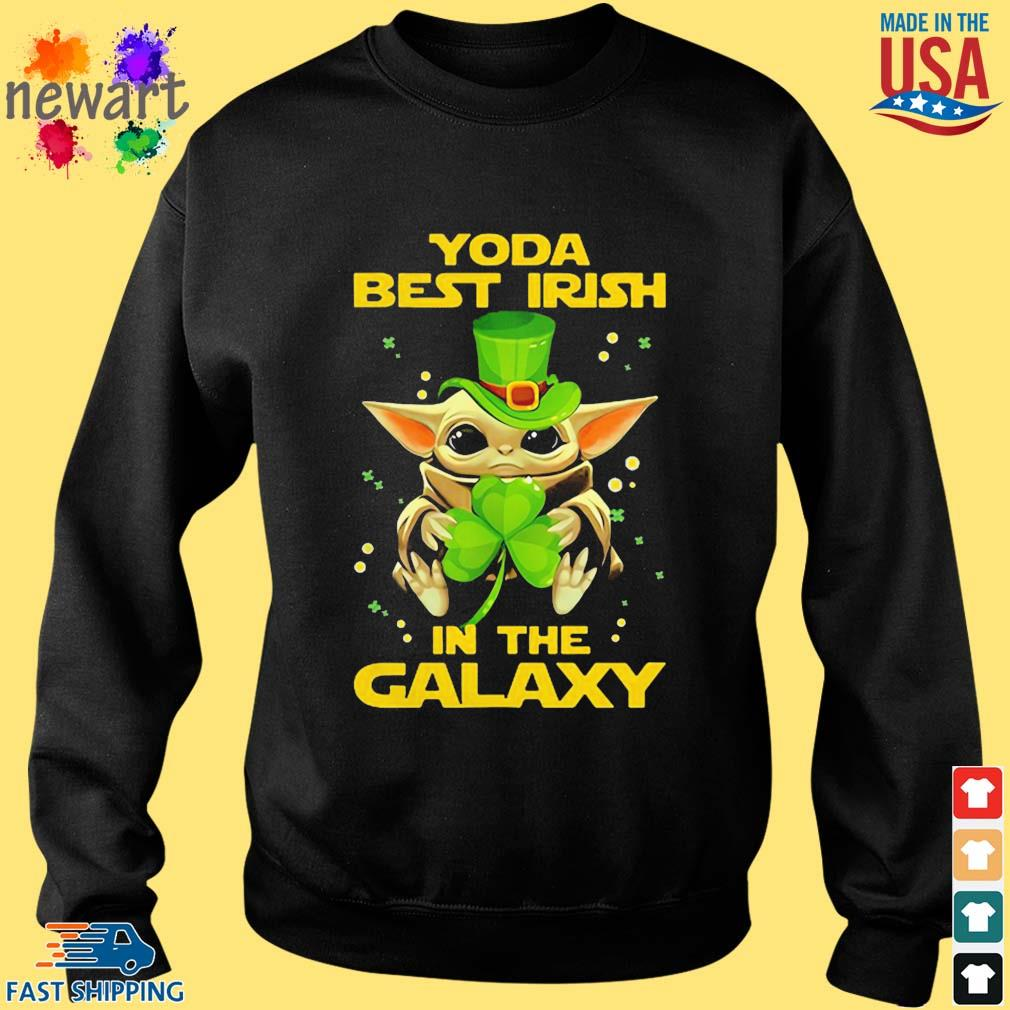 Baby Yoda Best Irish In The Galaxy Star Wars Shirt Sweater den
