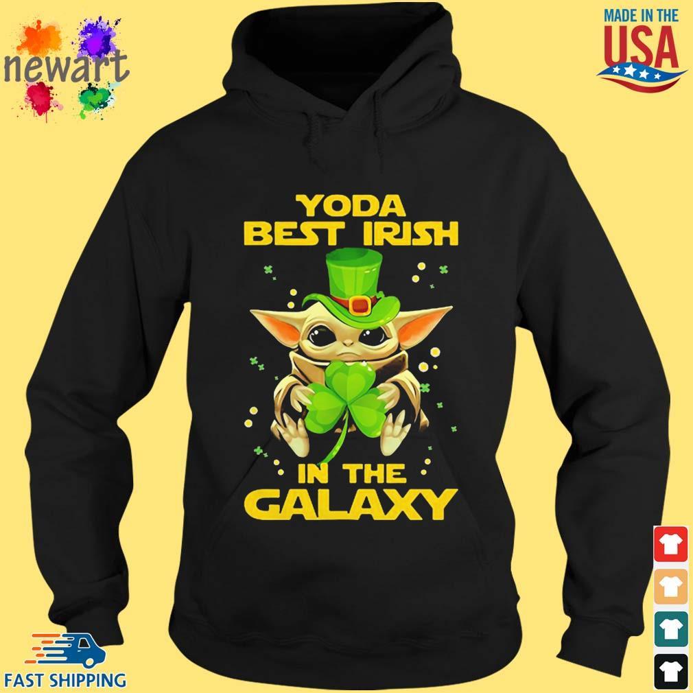 Baby Yoda Best Irish In The Galaxy Star Wars Shirt hoodie den