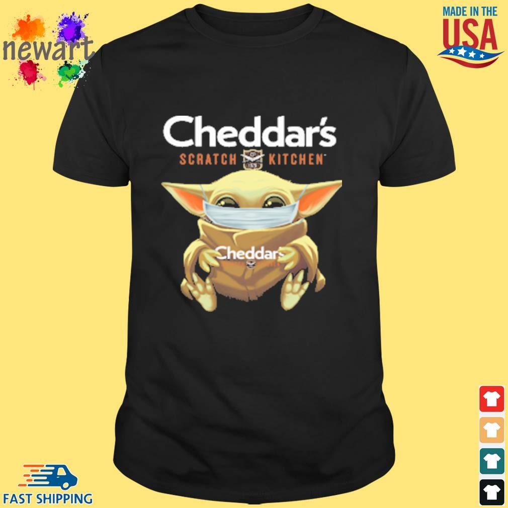 Baby Yoda Face Mask Cheddars Scratch Kitchen Shirt