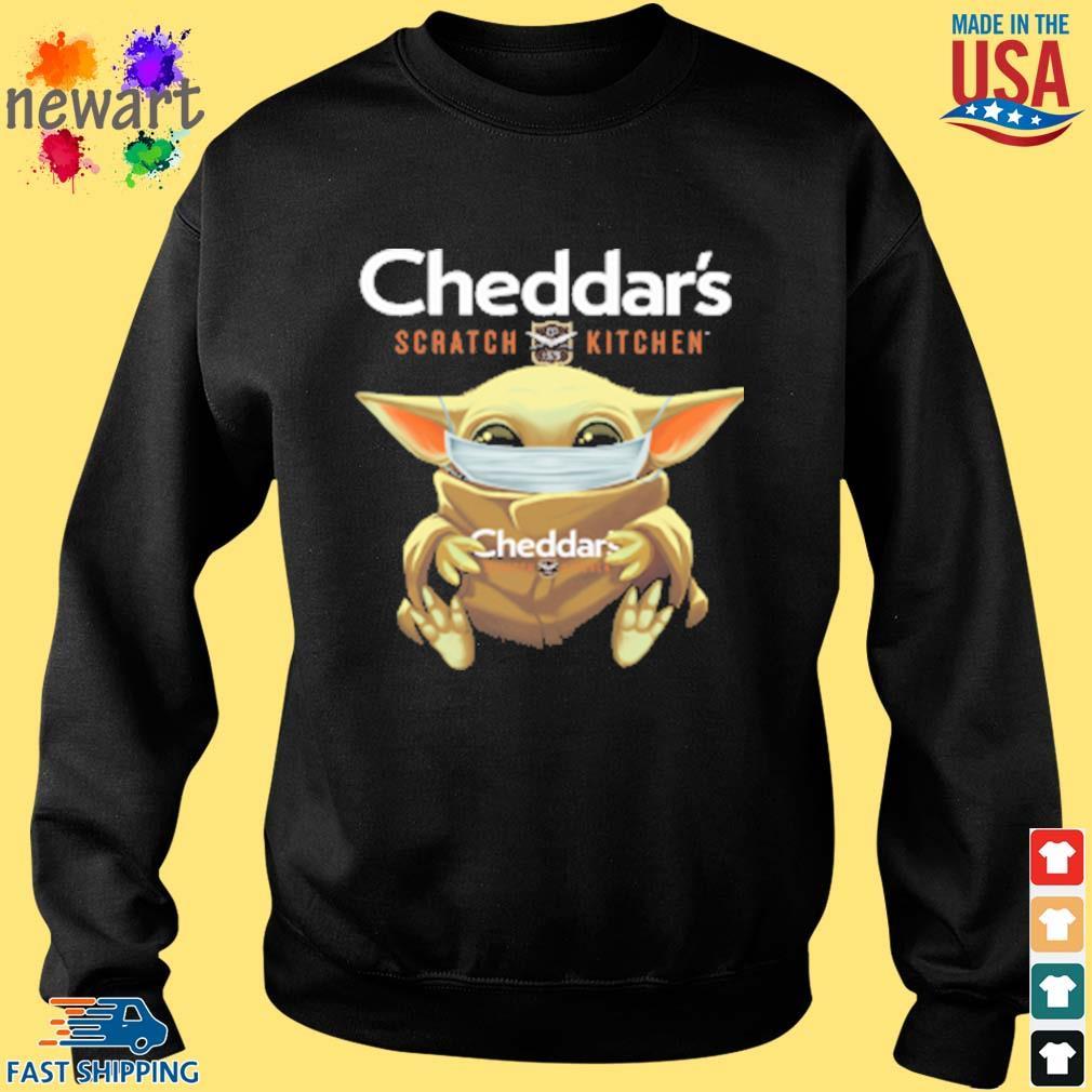 Baby Yoda Face Mask Cheddars Scratch Kitchen Shirt Sweater den