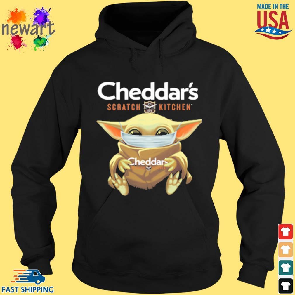 Baby Yoda Face Mask Cheddars Scratch Kitchen Shirt hoodie den