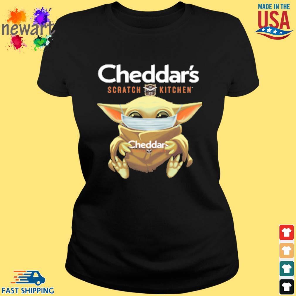 Baby Yoda Face Mask Cheddars Scratch Kitchen Shirt ladies den