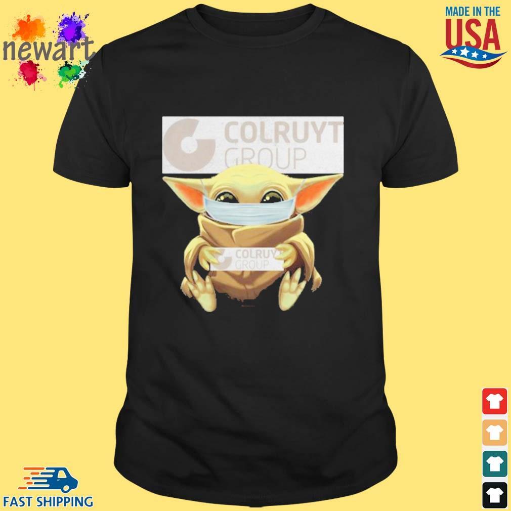 Baby Yoda Mask Hug Colruyt Group Shirt