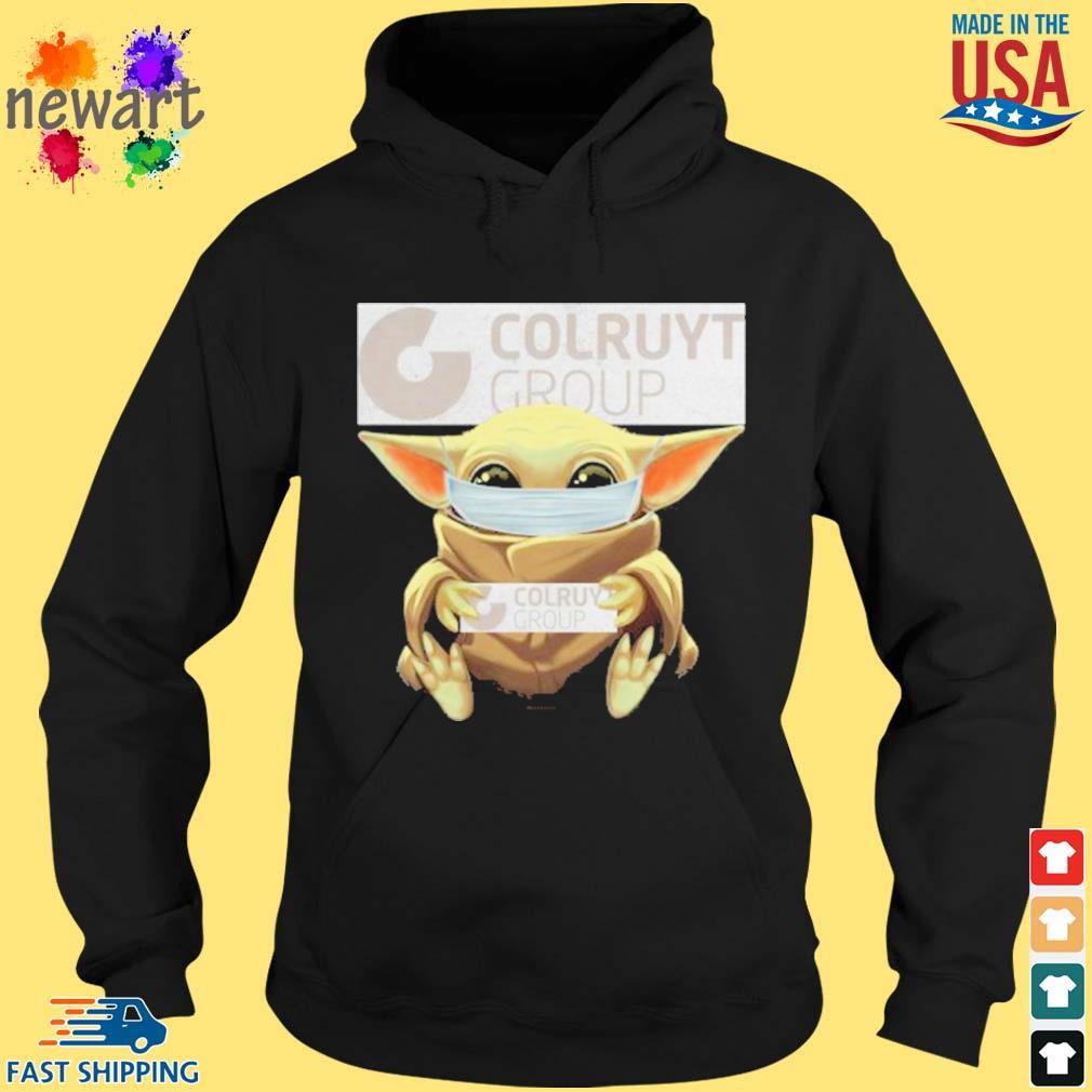 Baby Yoda Mask Hug Colruyt Group Shirt hoodie den