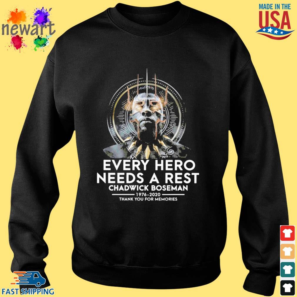 Black Panther every hero needs a rest Chadwick Boseman 1976-2020 thank you for memories s Sweater den