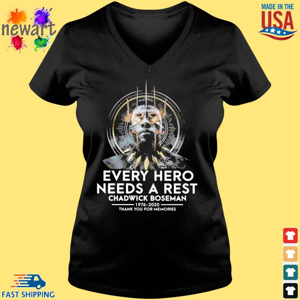 Black Panther every hero needs a rest Chadwick Boseman 1976-2020 thank you for memories s Vneck den
