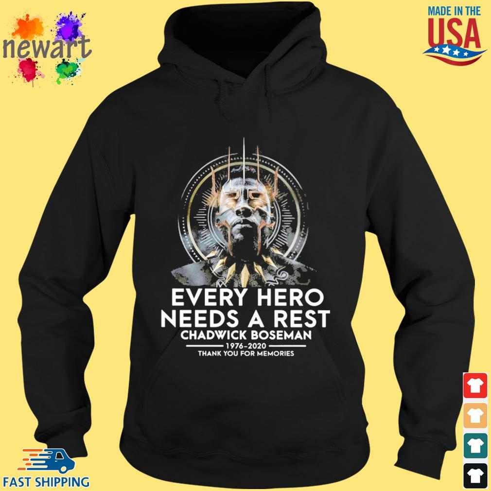 Black Panther every hero needs a rest Chadwick Boseman 1976-2020 thank you for memories s hoodie den