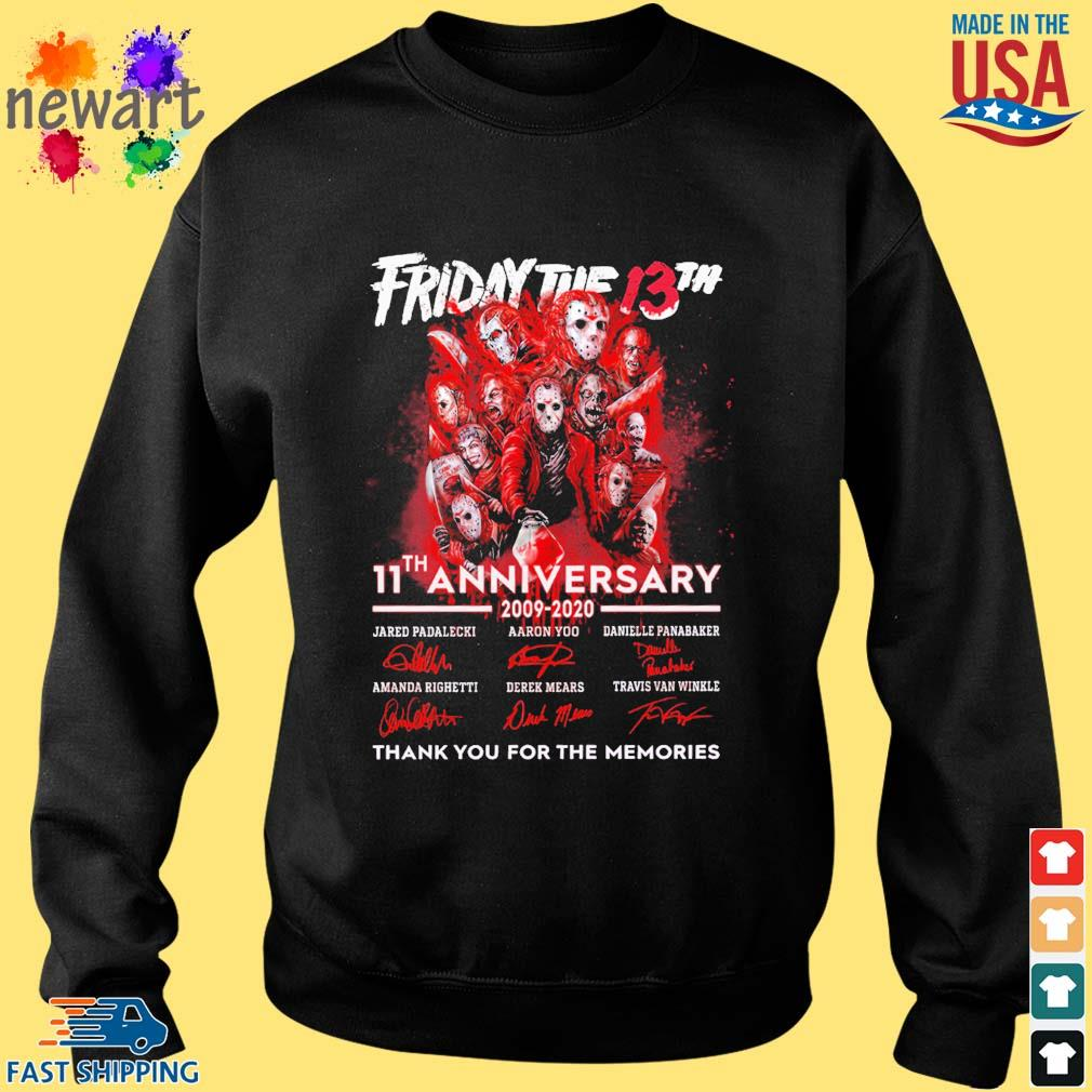 Friday the 13th 11th anniversary 2009 2020 signatures thank you for the memories s Sweater den