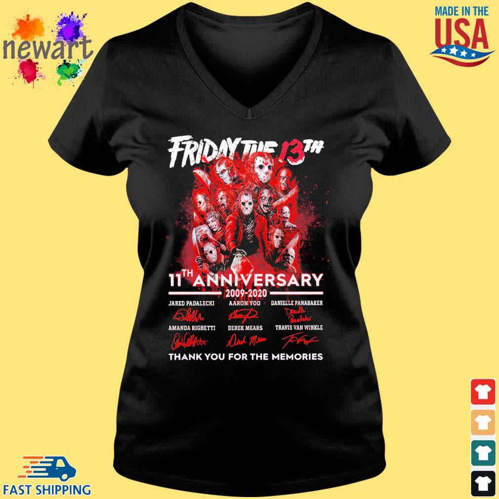 Friday the 13th 11th anniversary 2009 2020 signatures thank you for the memories s Vneck den